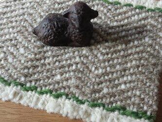【ホームスパン】ウールのマットの画像