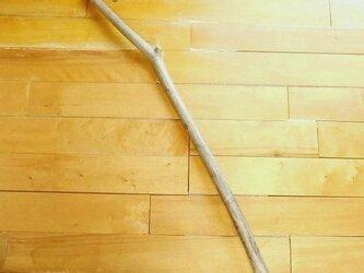 【温泉流木】木の皮の色素が残るダークブラウンの枝流木棒 流木素材 インテリア素材 木材の画像