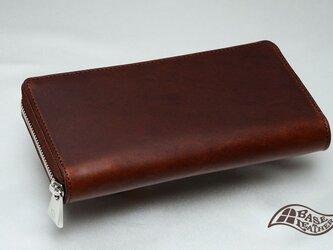 【送料無料】マレンマ ラウンドファスナー長財布 【ブラウン】【日本製】の画像