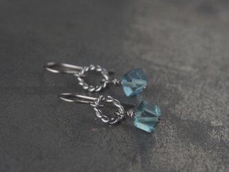 Ring&Cube Pierce(フローライト)の画像