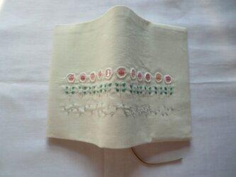白い花 ブックカバーの画像