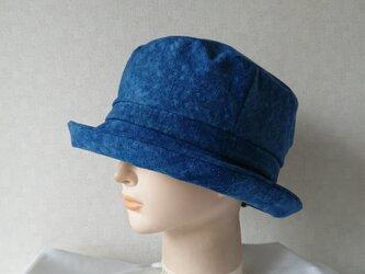 魅せる帽子☆絞り藍染めのクロッシュの画像