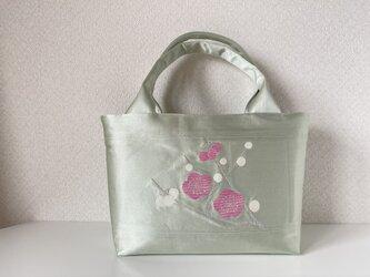帯バッグ〜ピンクと白の梅の花〜の画像