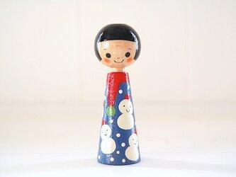 [conocokeshi]指人形・hand puppet[65]雪だるまちゃんの画像