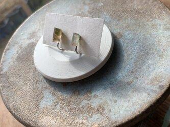 バイカラートルマリンのイヤリングの画像