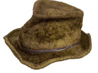 Crush fedora beaver hat (green)の画像