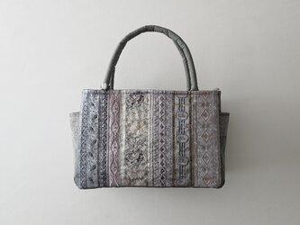 GRAY FRANCE RIBBON STANDARD BAG [L]の画像
