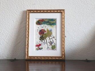 手描きの現代アート/現代絵画/おしゃれな壁掛け/  アートコレクション・もくもくシリーズ・犬型ロボットの画像