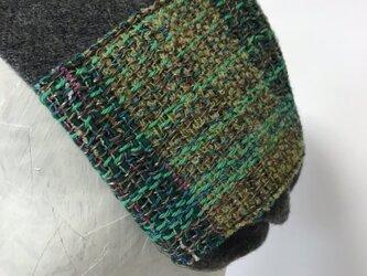 ヘアーバンド(さをり織り)グレーの画像
