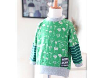 【80】プルオーバー*長袖カットソー きのこグリーンの画像