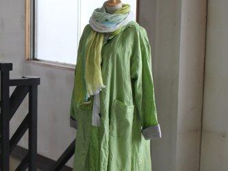 【春NEW】リネンフーテッドコート *リトアニアリネン 受注生産2月以降お届けの画像