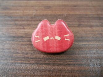 ピンクアイボリーtop・パリサンダーbackの平らピンズ ネコノカミの画像