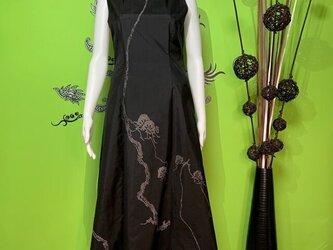 大島紬のワンピースドレス 氷輪の画像