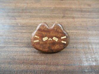 クラロウォルナット縮み杢の平らピンズ ネコノカミの画像