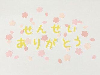 ②桜フレーク付き♡せんせいありがとう(平仮名ver)の画像