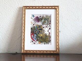 手描きの現代アート/現代絵画/おしゃれな壁掛け/  アートコレクション・もくもくシリーズ・怪獣の鬼ごっこの画像