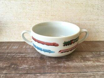 名入れ可!新幹線・電車 スープカップの画像