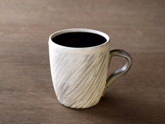 白い粉引のマグカップ iMw-006の画像