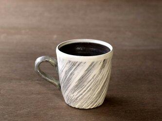 白い粉引のマグカップ iMw-007の画像
