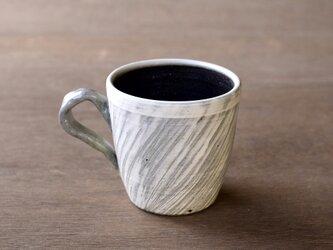 白い粉引のマグカップ iMw-008の画像