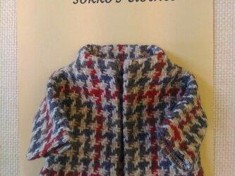 sokko's Coat  グレー・ベージュ・エンジ色の千鳥格子柄の画像