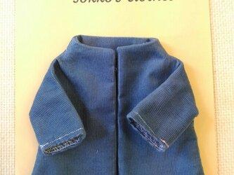sokko's Coat  明るいブルーのコーデュロイ生地の画像