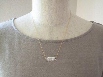 レクタングルパールの一粒ネックレスの画像