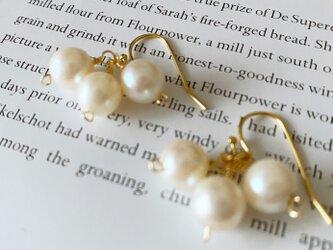 [送料無料!] 14kgf 上品な本真珠ピアスの画像