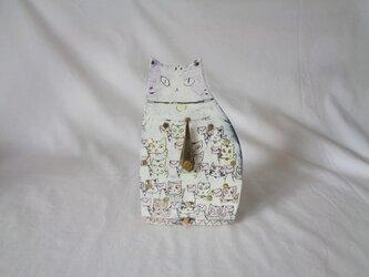 置時計 ネコの画像