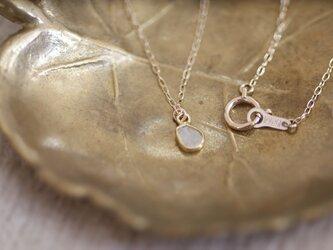 【U for you】(再)スライスダイヤモンドの10Kロングネックレスの画像