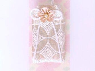 <サイズオーダー>元巫女が作る白いお守り袋(白)の画像