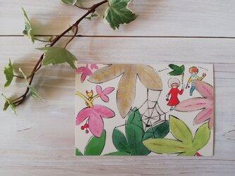 ポストカード「森の探検隊」の画像