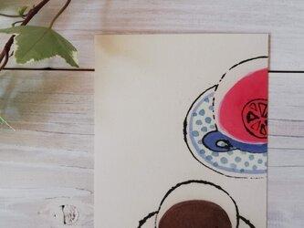 ポストカード2枚セット「赤いお茶」の画像