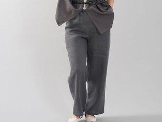 【wafu】中厚地 リネン ベイカーパンツ ボトムス パンツ リラックスパンツ/ディムグレー/b013d-dmg2の画像