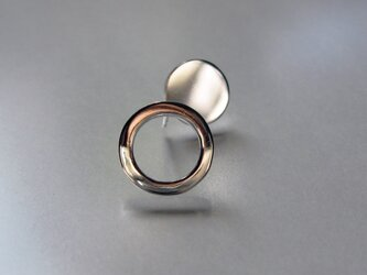 950 Silver Circle and Plate Earringsの画像