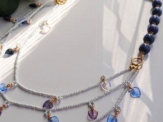残り葉       (チェコ・リーフの3連Necklace)の画像