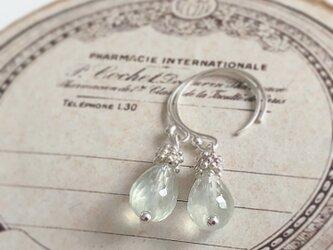 prehnite*silver pierceの画像