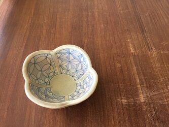 木瓜小鉢 染付幾何紋の画像