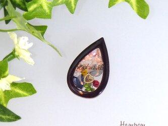 19c0013 ドライフラワーのシャカシャカアロマ☆ピンブローチ ホムポムの画像