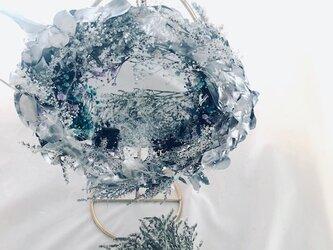 雪の国の女王の魔法の鏡/プリザーブドフラワーボタニカルミラーの画像