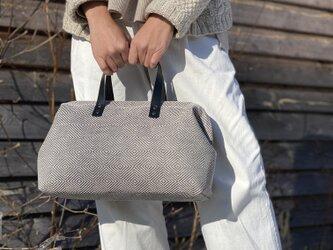 Boston bag  M size [Växbo Lin] 灰色の画像
