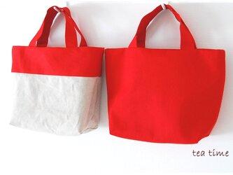 まっ赤なリバーシブルミニトートバッグ※の画像