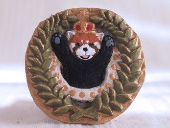 ブローチ 怒りのレッサーパンダ(ボックス付き)の画像