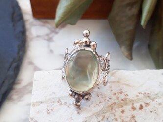 【12号】silver925 prehnite ringの画像