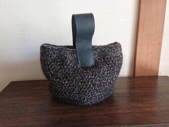 【木立実様専用】ウールリバーシブルのワンハンドルバッグの画像