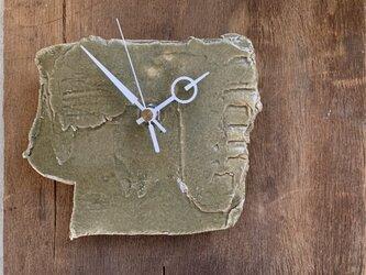 オリーブ艶消し2 掛け時計の画像