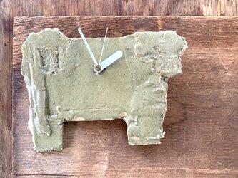 オリーブ艶消し1 掛け時計の画像