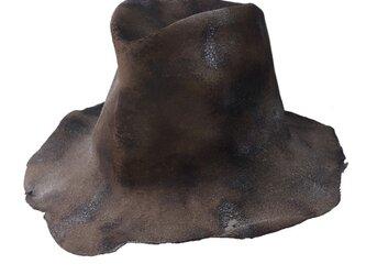 Sand brown fedora hi-hatの画像