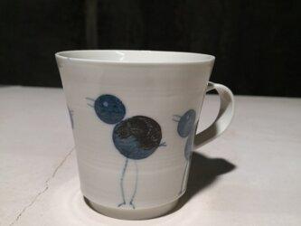 マグカップ(鳥時々雪だるま)の画像