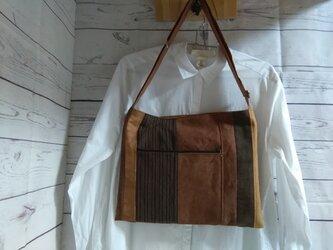 柿渋&墨染めショルダーバッグ 帆布の画像